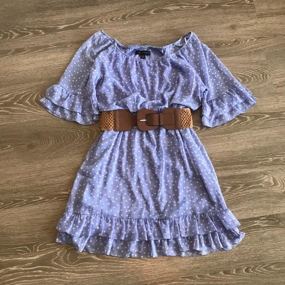 City Studio Dresses & Skirts - Polka dot dress with belt